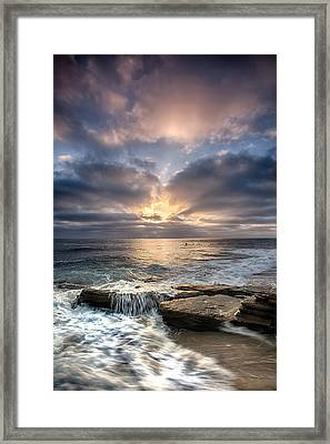 Rush Framed Print by Peter Tellone