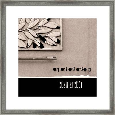 Framed Print featuring the photograph Rush Street by James Howe