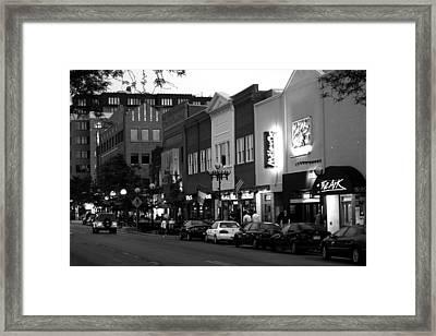 Rush Street Framed Print