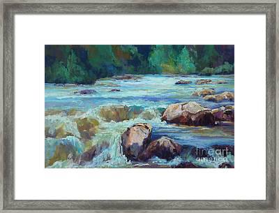 Rush Framed Print by Virginia Dauth