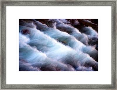 Rushing Framed Print by Adam Romanowicz