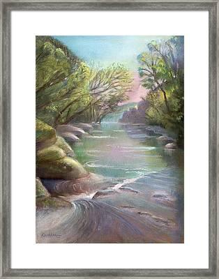 Rushing Creek Gatlinburg Tennessee Framed Print by Kathleen Bonadonna