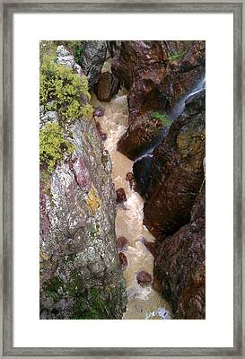 Framed Print featuring the photograph Rushing Crevasse by Fortunate Findings Shirley Dickerson