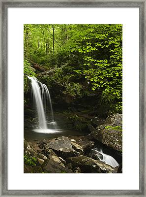 Rushing Falls Framed Print by Andrew Soundarajan