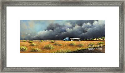 Framed Print featuring the painting Rushing Home by S G
