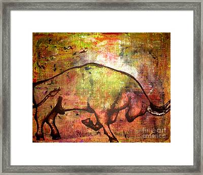 Framed Print featuring the painting Rushing Matador by Amy Sorrell