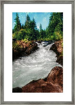 Rushing Rogue Gorge Framed Print by Melanie Lankford Photography