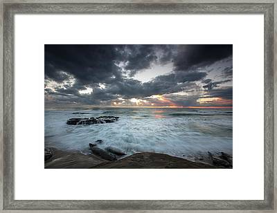 Rushing Seas Framed Print by Peter Tellone