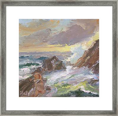 Rushing Tide Framed Print by Patricia Seitz