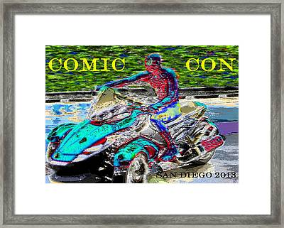 Rushing To Comic Con Framed Print by David Lee Thompson