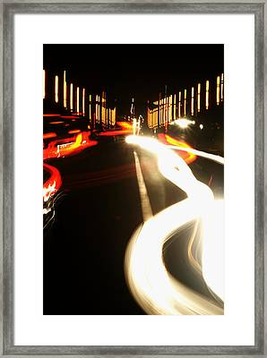 Rushing Traffic Framed Print