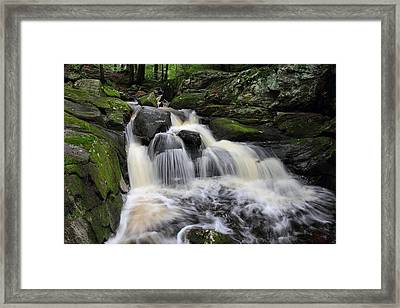 Rushing Water Framed Print by Mike Farslow