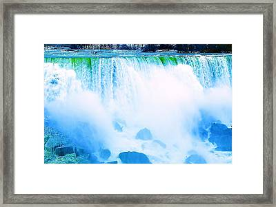 Framed Print featuring the photograph Rushing Waters by Al Fritz