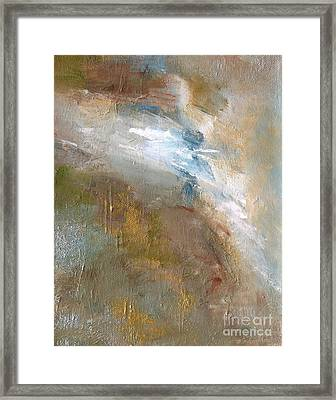 Rushing Waters Framed Print by Frances Marino