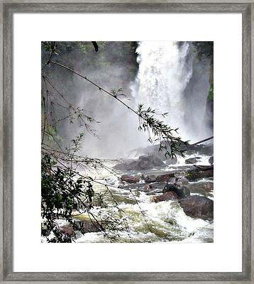 Rushing Waters Framed Print by Louise Peardon