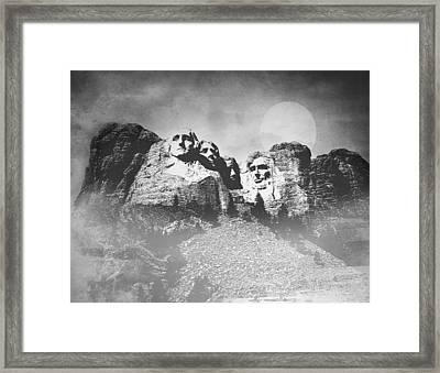 Framed Print featuring the photograph Rushmore At Night by Roy  McPeak
