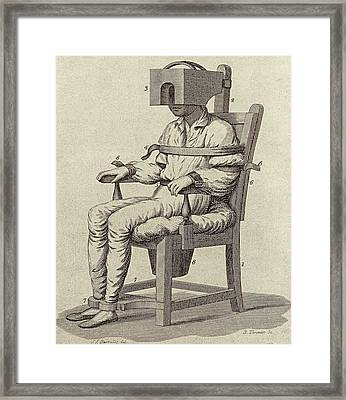 Rush's Tranquiliser Chair Framed Print by American Philosophical Society