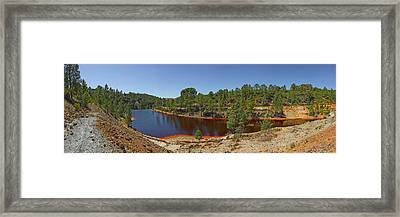 Russed Colored Waters Near Mine, Pena Framed Print