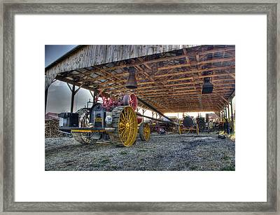 Russell At The Saw Mill Framed Print
