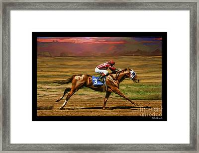 Russell Baze On Candy's Jewel  Framed Print