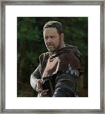 Russell Crowe As Robin Hood Framed Print