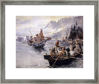 Russell Lewis And Clark Framed Print by Granger