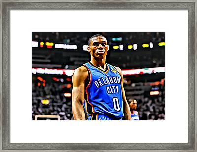 Russell Westbrook Portrait Framed Print