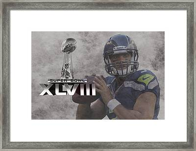 Russell Wilson Framed Print by Joe Hamilton