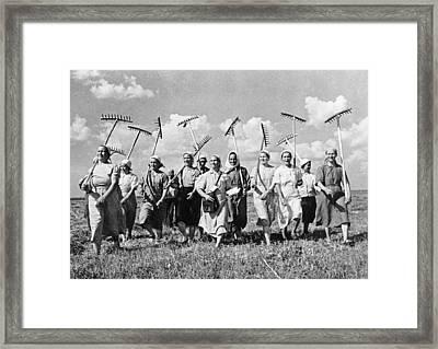 Russia: Farmers, C1941 Framed Print