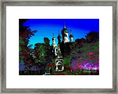 Russia In The South Of France Framed Print by Raphael OLeary
