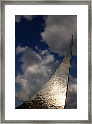 Russia, Moscow, Cosmos Space Monument � Framed Print