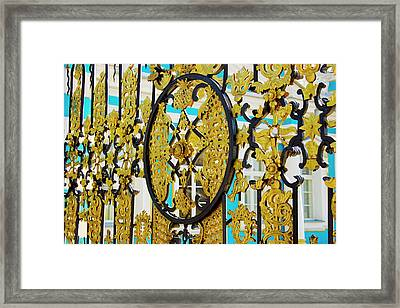 Russia, Pushkin Gate Detail Framed Print by Jaynes Gallery