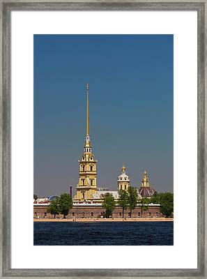 Russia, Saint Petersburg, Center, Neva Framed Print by Walter Bibikow