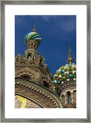Russia, St Petersburg Towers Framed Print by Jaynes Gallery