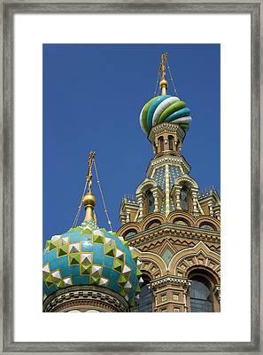 Russia, St Petersburg Two Towers Framed Print by Jaynes Gallery