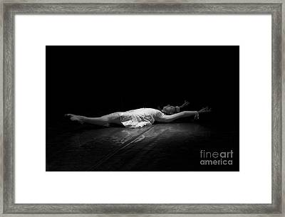 Russian Ballerina As A Melting Snowflake. Framed Print