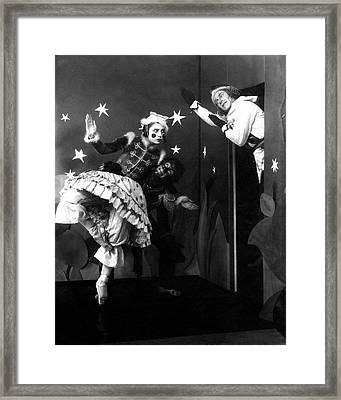 Russian Ballet Dancers Wearing Elaborate Costumes Framed Print by Anton Bruehl & Fernand Bourges