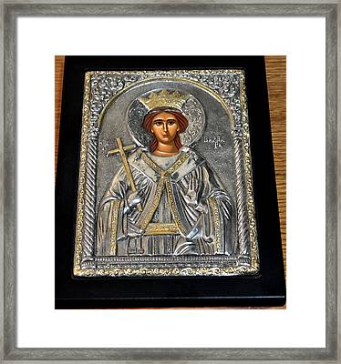 Russian Byzantin Icon Framed Print