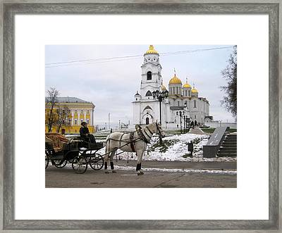 Russian Carriage Framed Print by Michael Fitzpatrick