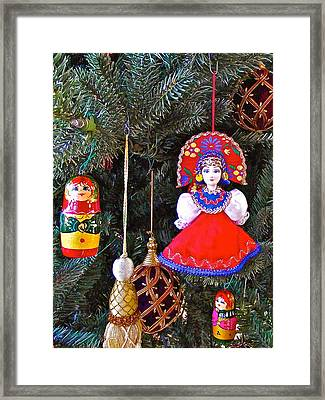 Russian Christmas Tree Decoration In Fredrick Meijer Gardens And Sculpture Park In Grand Rapids-mi Framed Print by Ruth Hager