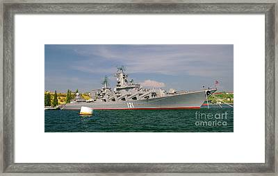 Russian Cruiser Moskva Framed Print by Petr Taborsky