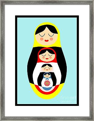 Russian Doll Matryoshka Framed Print by Patruschka Hetterschij