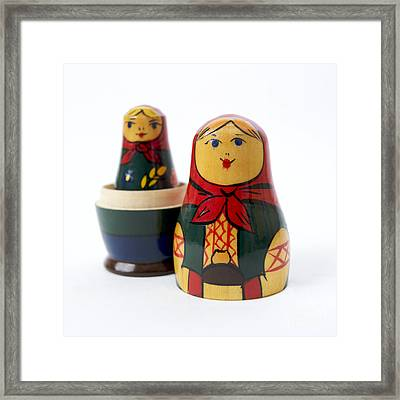 Russian Dolls Framed Print by Bernard Jaubert