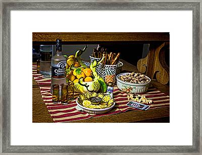 Russian Game Night Framed Print