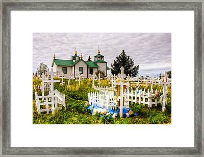 Russian Orthodox Church In Ninilchik Alaska Framed Print by Natasha Bishop