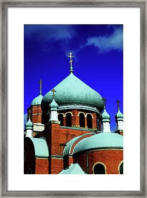 Russian Orthodox Church Framed Print by Karol Livote