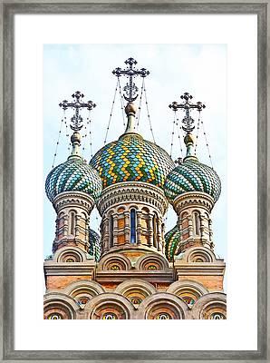 Russian Orthodox Church Of Nativity Framed Print by Fabrizio Palumbo