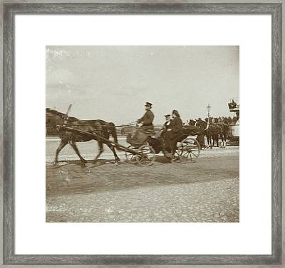 Russian Orthodox Priest In A Car With A Driver Framed Print