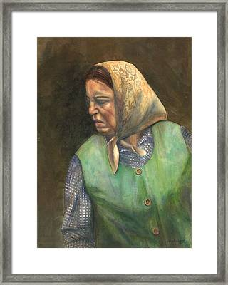 Russian Peasant Framed Print by Sara Srubar