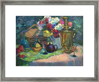Russian Picnic Still Life Framed Print